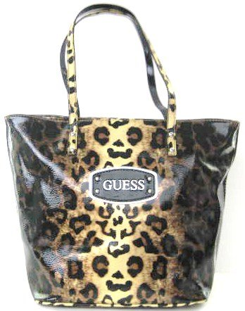 Guess Nala Cheetah Print Medium Tote in Gold (guess handbags, purses, bags)