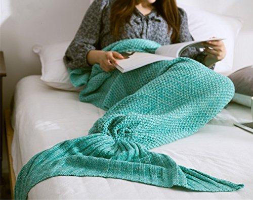 Mermaid Decke, PALADY 2016 Neueste Crochet Nixeendstück Decke, Kleinkind , Teenager, Erwachsener Meerjungfrau Wurf, Mermaid Decor, Geschenke für Prinzessin, Merry Christmas Gift