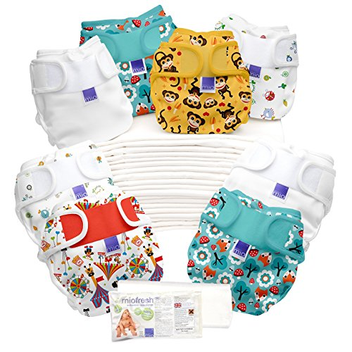 Bambino Mio Miosoft 2 Piece Prefold Birth to Potty Diaper Pack for Unisex
