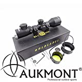 Aukmont 3-9X42 Tactical Hunting Rifle Scopes Mill-Dot IR Reticle 1/4