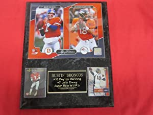 Peyton Manning John Elway Denver Broncos 2 Card Collector Plaque w NEW LEGACY 8x10... by J & C Baseball Clubhouse