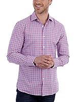 BLUE COAST YACHTING Camisa Hombre (Rosa / Azul)