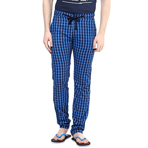 Wear-Your-Mind-Dark-Blue-Checkered-Cotton-Pyjamas-For-Men-WPY0131