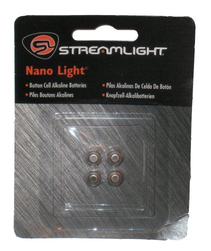 Streamlight 61205 Nano Light Battery Iec-Lr41, 4-Pack
