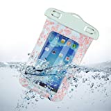 White and Red Ornamental-patterned Design Universal Waterproof Underwater Case For Samsung Galaxy S4 i9500,Galaxy S3 / Apple iPhone5 4 4S / Nokia Lumia 920,Lumia 1020