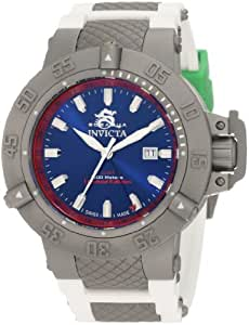 Invicta Men's 1586 Subaqua Noma III Blue Dial White Polyurethane Watch