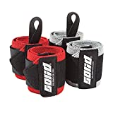 Wrist Wraps Strength Pack (4 Wraps)-STANDARD Support for Olympic Lifts & CrossFit + HEAVY Protection for Weightlifting & Bodybuilding/Powerlifting - For Men & Women - Stabilize Wrists & Avoid Injury!