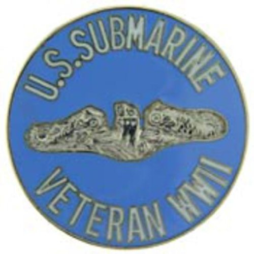 WWII U.S. Submarine Veteran Pin 1 1/2