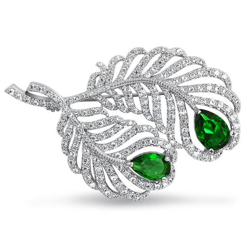 Great Gatsby Bling Jewelry Emerald Color CZ Teardrop