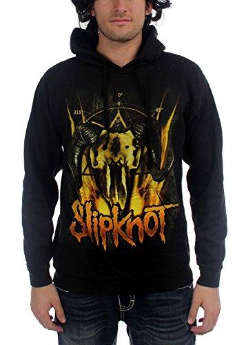 Slipknot-Felpa con cappuccio da uomo, motivo: pastore Felpa, colore: nero nero X-Large