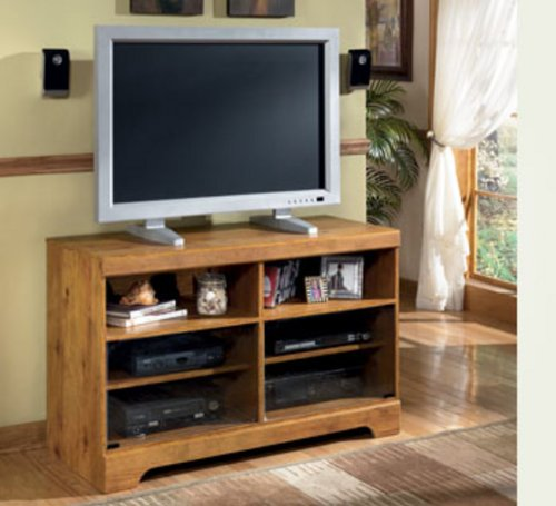Cheap TV Stand by Ashley – Natural Wood (W219-15) (W219-15)