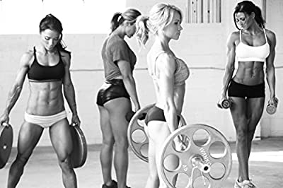 """Sexy Women Fitness Bodybuilding Motivational Fabric Cloth Rolled Wall Poster Print -- Size: (36"""" x 24"""" / 20"""" x 13"""")"""