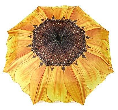 ステキ傘!【 日傘 雨傘 兼用 】 高品質 ひまわり 折りたたみ傘 強UVカット 8本骨 3段折り 向日葵 晴雨兼用 ファッション アンブレラ 傘 [HAPPYNESSMAIL]