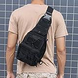 AGPtEK Outdoor Tactical Shoulder Backpack, Military & Sport Bag Pack Daypack for Camping, Hiking, Trekking, Rover Sling(Black)