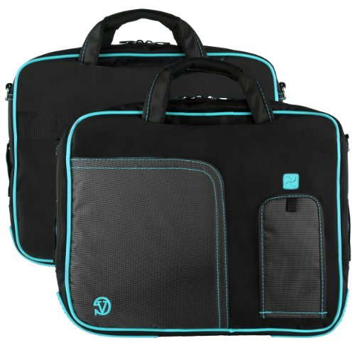 VanGoddy Goodly Pindar Edition Nylon Messenger bag for Laptops (Vile with Aqua)