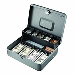 Steelmaster Tiered Tray Cash Box - Metallic: Amazon.co.uk ...