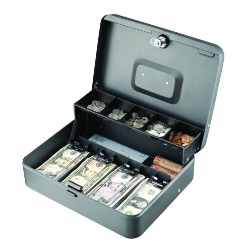 STEELMASTER Tiered (Cantilever) Cash Box, Gray, 2216194G2 (Sentry Safe Cash Box compare prices)