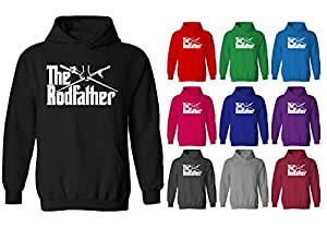 Mens The Rodfather Parody Fishing Funny Slogan Pullover Hoodie