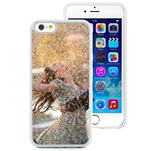 6 Phone cases, Couple Dance Happiness Rain Wet Love White iPhone 6 4.7 inch TPU cell phone case