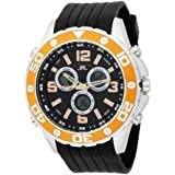 U.S. Polo Assn. Sport Men's US9072 Analog-Digital Black Dial Black Rubber Strap Watch