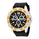 U.S. Polo Assn. Mens US9072 Analog-Digital Black Dial Black Rubber Strap Watch