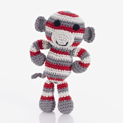 Pebble: Monkey Rattle - Boy - 1