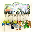 Toy Story Key Chain Alien Woody Buzz Lightyear Key Ring Pendant 9pc Set