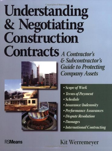 Understanding & Negotiating Construction Contracts - RSMeans - RS-67350 - ISBN:0876298226