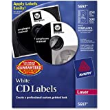 Avery CD Labels, White Matte, 250 CD Labels and 500 Case Spine Labels (5697)