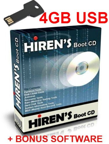 Hirens Boot Usb 15.2 Tool To Fix & Repair All Pc Problems - 4Gb Bootable Metal Key Chain Usb - front-773211