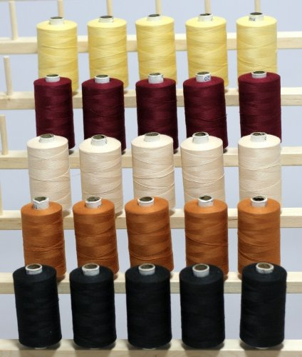 New ThreadsRus 25 Large Spools of 3-PLY Polyester Sewing Quilting Serger threads SP3 From THREADSRUS