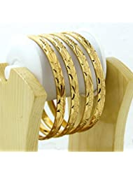 BDF Gold Plated Designer Antique Bangles. A Pair Of 4. Product Design May Differ As Per The Photography. Available...