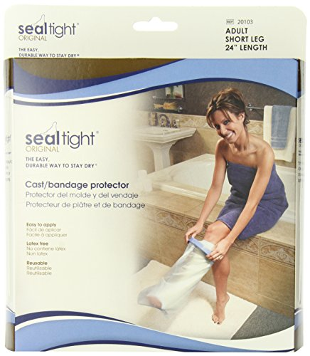 Seal Tight ORIGINAL Cast and Bandage Protector, Best Watertight Protection, Adult Short Leg