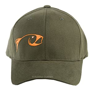 Rising fly fishing flexfit baseball cap pine s m hat for Fly fishing cap