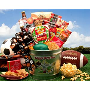 Click to buy Tailgate and Celebrate Sports Party Time Gift Basket from Amazon!