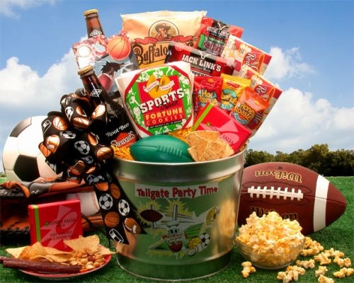 Gourmet Gift For Dad | Touchdown Deluxe Gourmet Sports Gift | Fun Sports Gift Idea