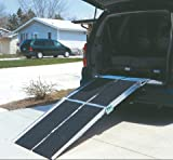 Prairie View Industries Portable Multi-fold Ramp w/Extended Lip, 10 ft x 30 in