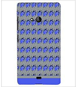 PrintDhaba Girl Pattern D-1908 Back Case Cover for MICROSOFT LUMIA 540 (Multi-Coloured)