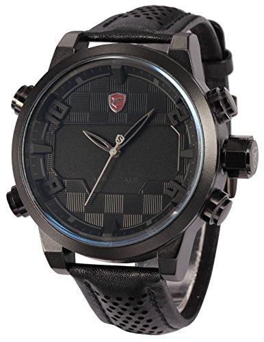 No te pierdas Reloj de hombre de cuarzo con correa de cuero SHARK SH206
