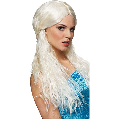 Barbarian Bride Platinum Wig - One Size