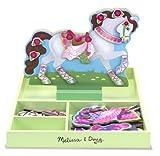 Melissa & Doug 18591 - Caballo magnético de madera para vestir - mi caballo clover