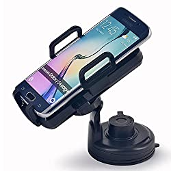 Itian Latest Version Qi Car Wireless Charge Cell Phone Charge Cradles with 5V 1A DC Power Supply for Samsung Galaxy S6 S6 edge S5 S4 Note4 Note4 edge Note3 LG G3 G2 Optimus Vu2 Google Nexus4 5 6 7 Nokia Lumia 920 Moto Droid M