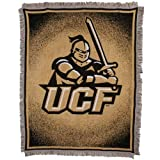 NCAA UCF Knights 48 x 60 Gold Focus Jacquard Woven Blanket Throw
