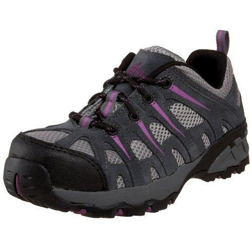 Nautilus Safety Footwear Women'S N1754 Composite Toe Sneaker,Grey/Lavender,6.5 W Us