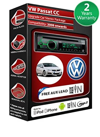 VW Passat CC de lecteur CD et stéréo de voiture avec radio Clarion CZ102EG AUX avant
