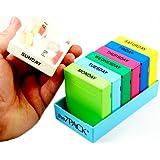 Borinhalbich 7 Day Pill Box Organizer 2 Compartment Blue Tray- Made In The Usa by Borin-Halbich