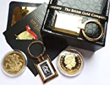 24k Pure Gold Rolls Royce Keyring and Full Sovereign in Luxury British Gold Company Case with Certificate Spirit Phantom Ghost Shadow