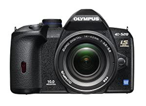 Olympus Evolt E520 10MP Digital SLR Camera with Image Stabilization w/ 14-42mm f/3.5-5.6 Zuiko Lens