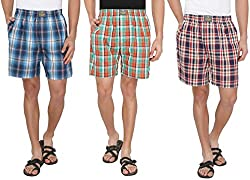 7thStreet Checkered Men's Cotton Boxer Short (Pack of 3)