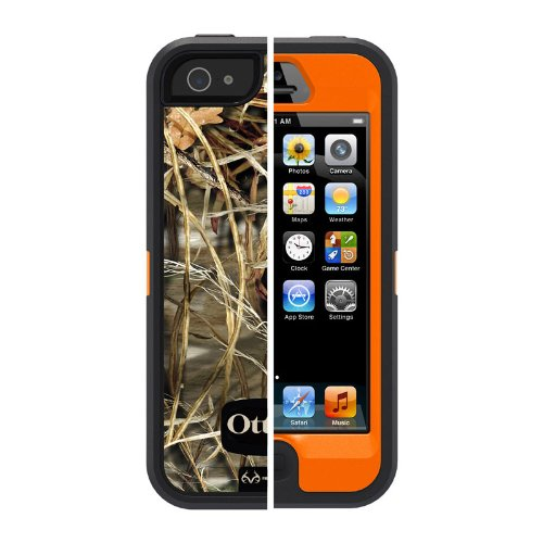 OtterBox Defender Series Case for iPhone 5 - Retail Packaging - Realtree Camo - Max 4HD Orange